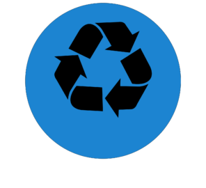 recycling icon for the trash and recycling button